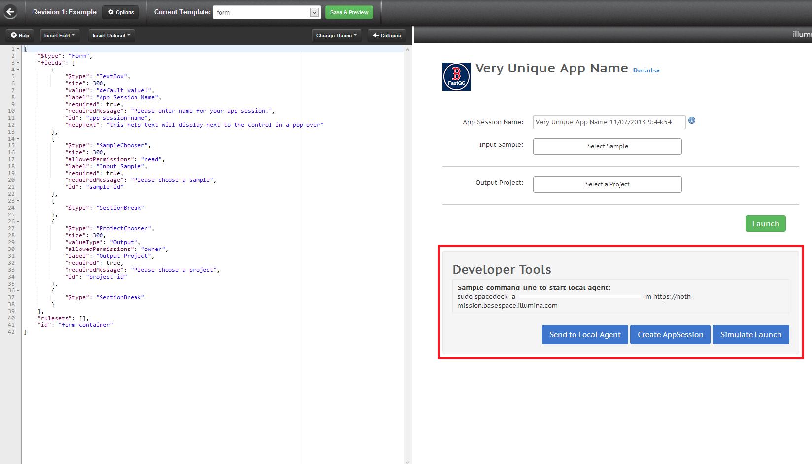 app form builder